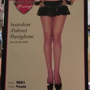 Music Legs Hosiery Seamless Fishnet Pantyhose